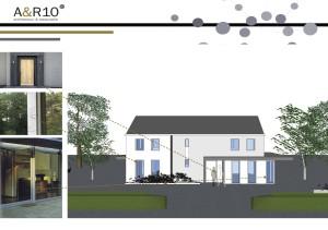 Beeld van het verbouwingsvoorstel van architectenbureau A&R10 uit Zeist, specialist in Architectuur en Restauratie, voor een jaren '60 bungalow in Maarn.