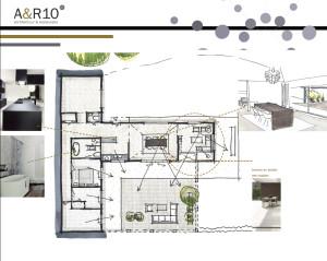 Beeld van het verbouwingsvoorstel voor een jaren '60 bungalow in Maarn, van architectenbureau A&R10 uit Zeist, specialist in Architectuur en Restauratie.