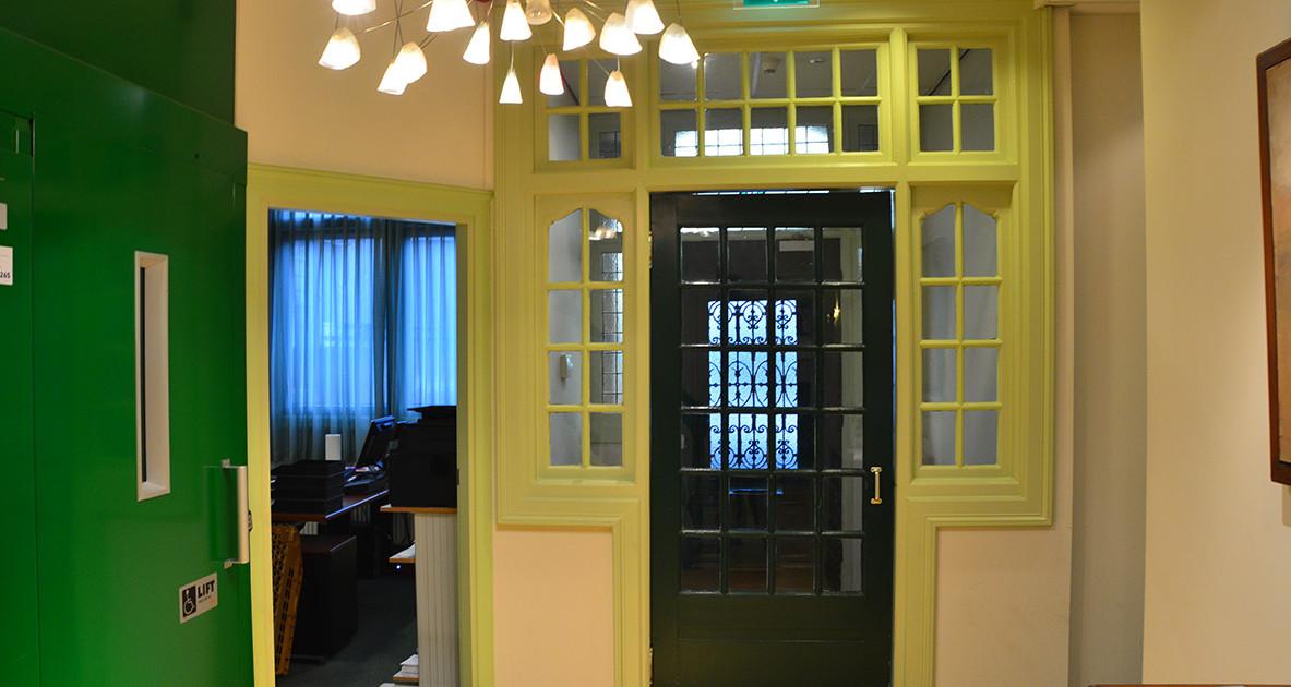 interieur voor verbouwing entree groen VNA