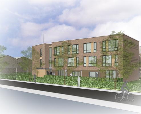 Ontwerp A&R10 nieuwbouw appartement complex sociale huurwoningen Bennekom