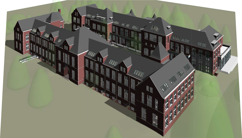 Architectenbureau A&R10 toont nieuwe situatie herbestemd pathologielaboratorium (anatomiezijde)