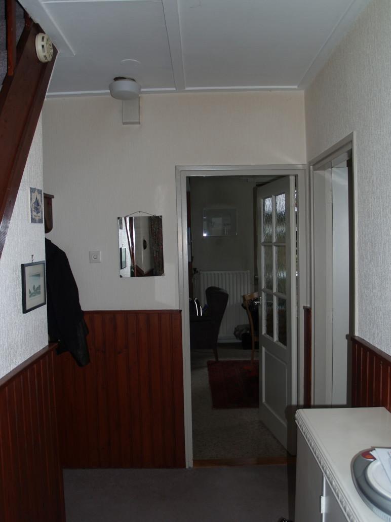 Situatie vóór de verbouwing van een gedateerde bungalow. Architectenbureau A&R10 ontwierp en realiseerde een nieuw interieur.