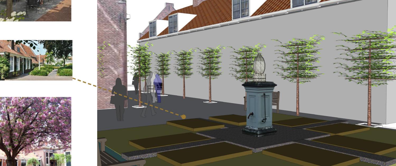 Ontwerpvoorstel architect voor een nieuwe 'historische' invulling binnenstedelijke lokatie in Amersfoort