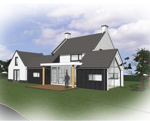 Ontwerp architect verbouwing moderne uitbouw & guesthouse vrijstaande woning renovatie Utrecht