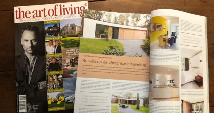 Architectenbureau A&R10 staat in The Art of Living magazine