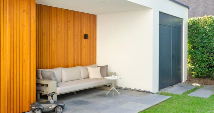 Resultaat verbouwing bungalow tot villa - zicht op garage