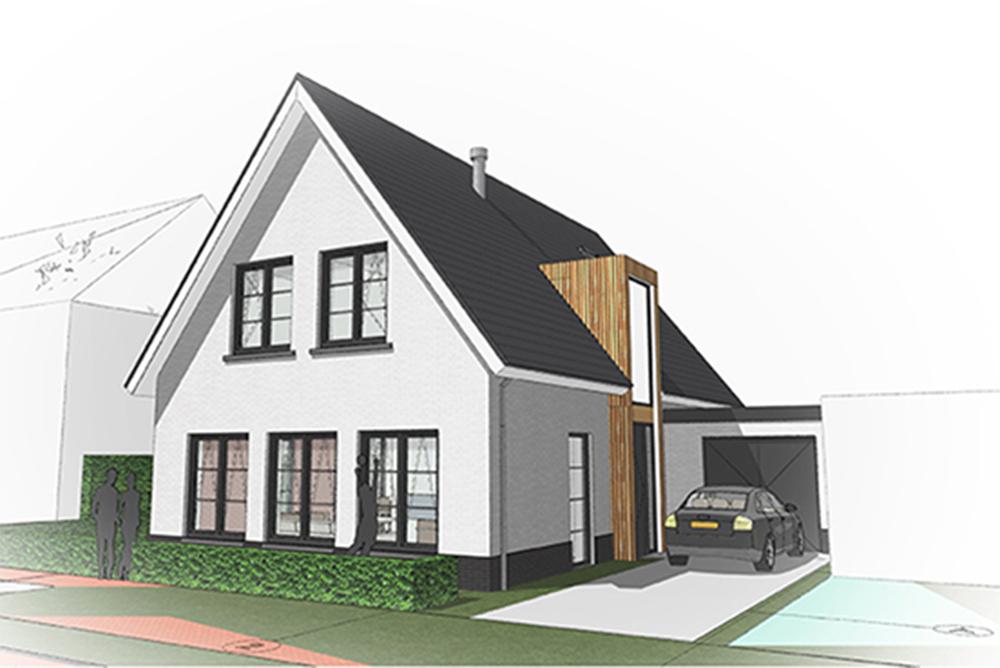 Ontwerp architect A&R10 moderne vrijstaande landelijke nieuwbouw villa te Scherpenzeel