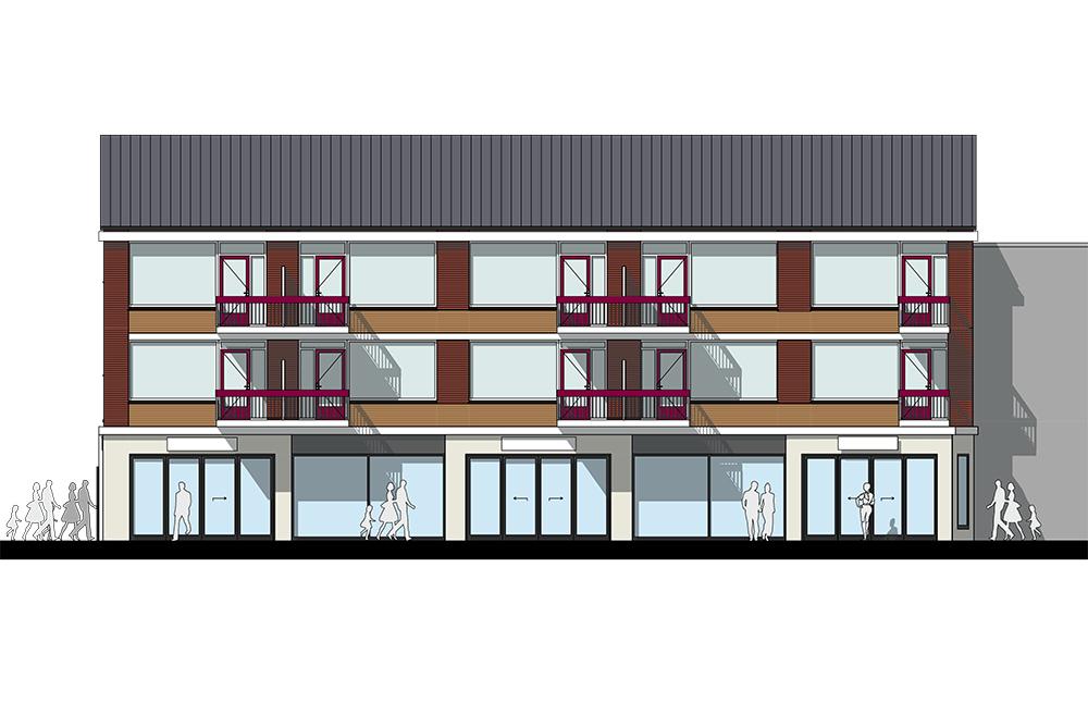 Verbouwings ontwerp architect A&R10 metamorfose winkelruimte en moderne winkelpui Amersfoort